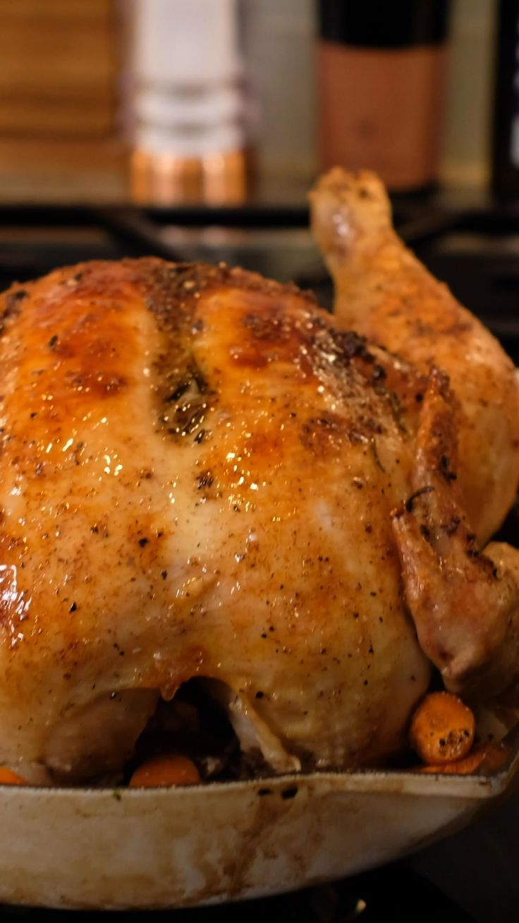 How To Make An Easy Roasted Chicken Recipe Whole Chicken Recipes Oven Baked Whole Chicken Recipes Baked Chicken Recipes Easy
