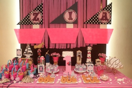 Zia's sweet nautical 1st birthday - styled by Pink Tie - Photo by The Stork Studio