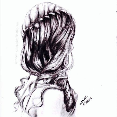 Fashion Painting About Beauty Hairstyle