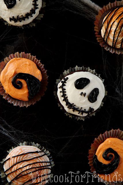 Nightmare Before Christmas Cupcakes, 1/4 by WillCookForFriends, via Flickr