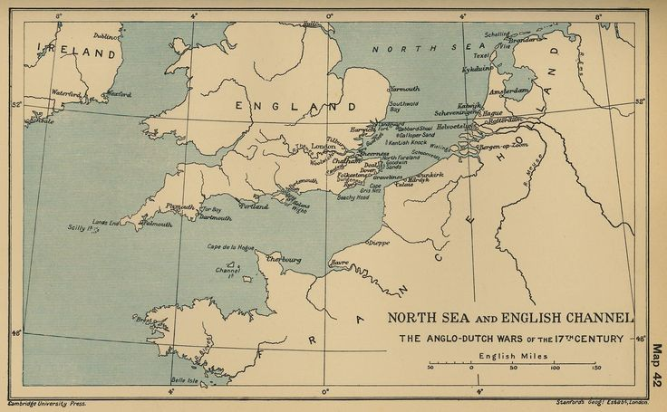 Map of the Anglo-Dutch Wars 1652