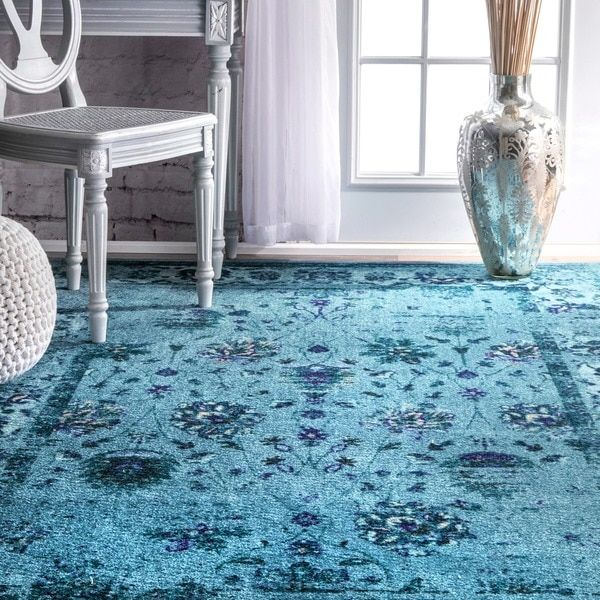 Nuloom Vintage Inspired Turquoise Overdyed Rug: 17 Best Ideas About Turquoise Rug On Pinterest