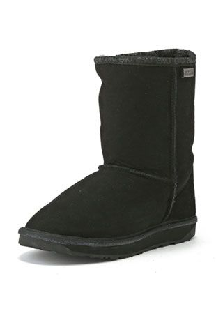 MOUTON BOOTS SELECTION - 【emu】 PLATINUM STINGER LO シープスキンブーツ Black