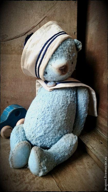 KLEINER JUNGE - голубой,морской стиль,винтаж,винтажный стиль,коллекционная игрушка