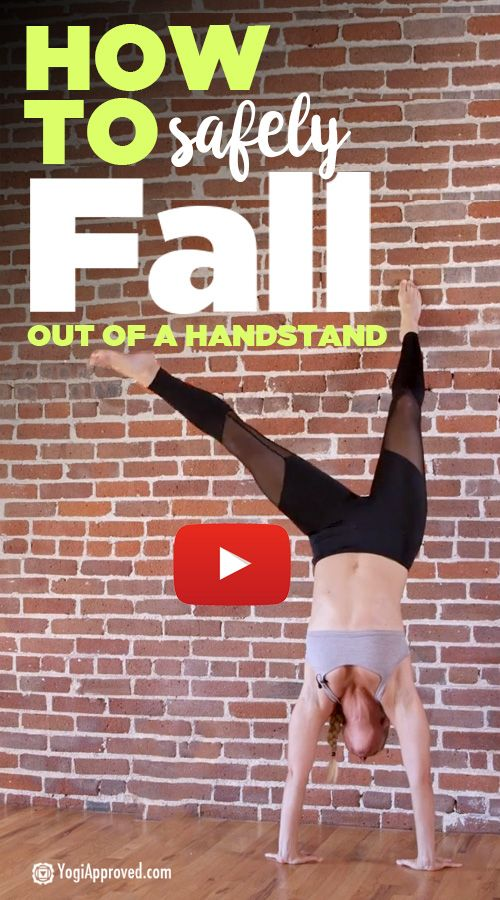 Tips and Drills to Help You Safely Fall Out of a Handstand (Video Tutorial)