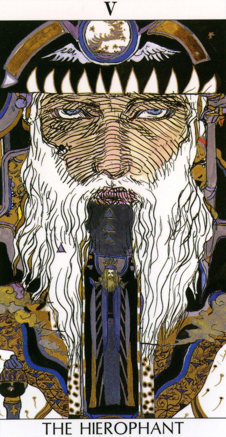 The Hierophant -- V By Yoshitaka Amano