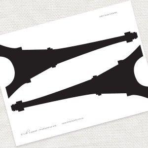 free printable Eiffel Tower template