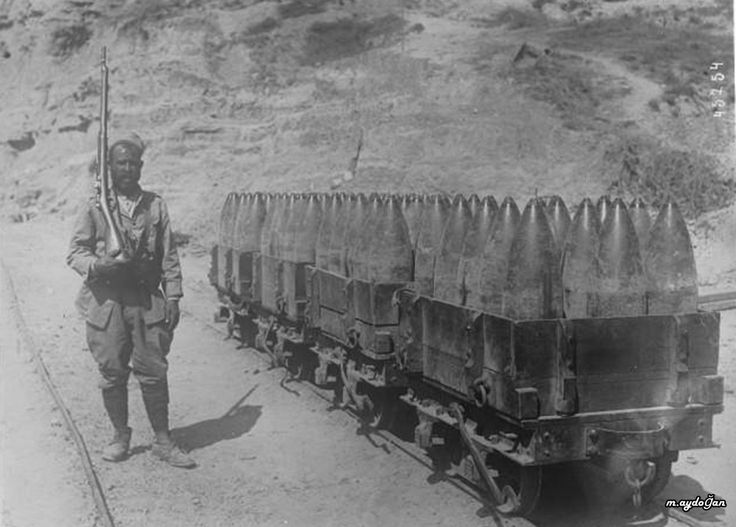 Turkish soldier with artillery
