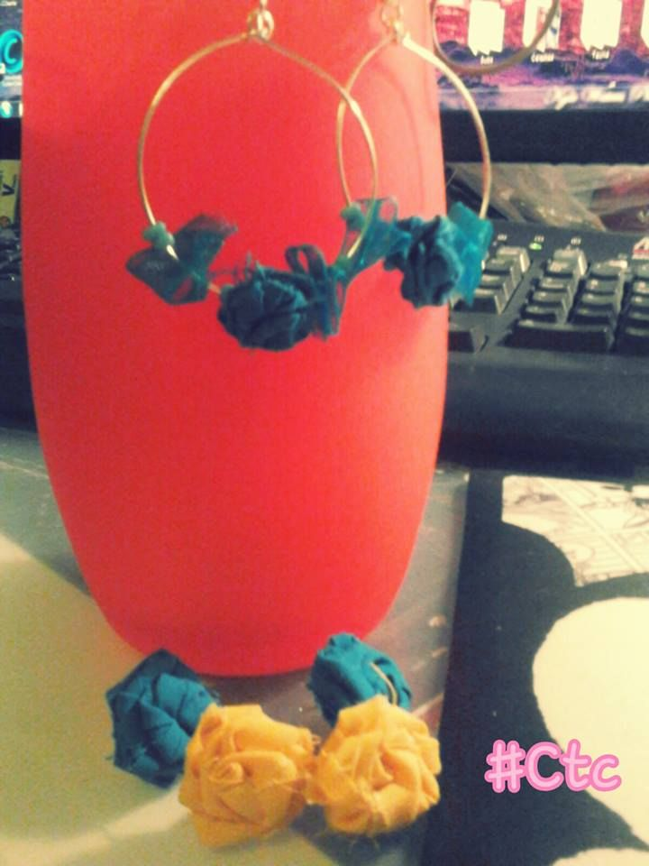 blue and yellow earrings...5$ #ctc #collection #earrings #blue #yellow
