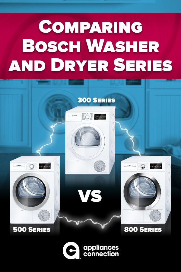 Comparing Bosch Washer And Dryer Series 300 Vs 500 Vs 800 Bosch Washer Washer And Dryer Bosch