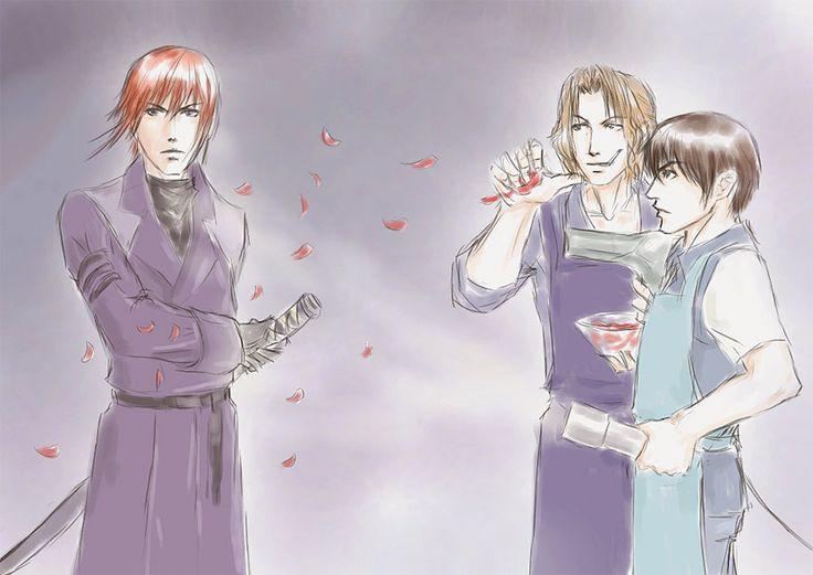 Artist is error256 ...  ken hidaka, ran fujimiya, weiss kreuz, youji 'yohji' kudou