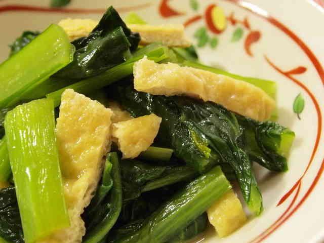 あと一品♪小松菜と油揚げの煮浸しの画像