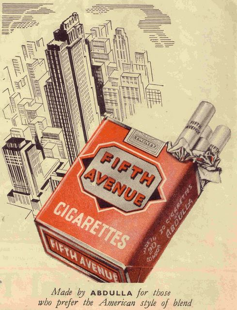 Fifth Avenue Cigarettes, 1949
