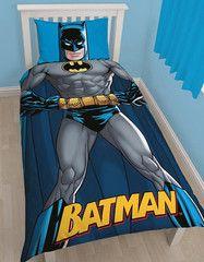 BATMAN ~ 'Shadow' Single Bed Reversible Quilt Set