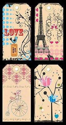 Free printable tags - They are so lovely (Art by Julie H) #tag #gift
