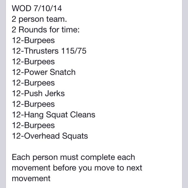 Image result for crossfit partner wods