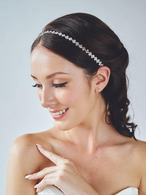 rose gold headband bridal hairband wedding hair accessories rhinestone headband rose gold headpiece cleo headband