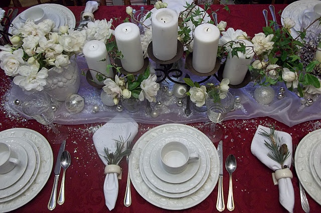 White And Red Christmas Tablescape Tablescape Loveliness