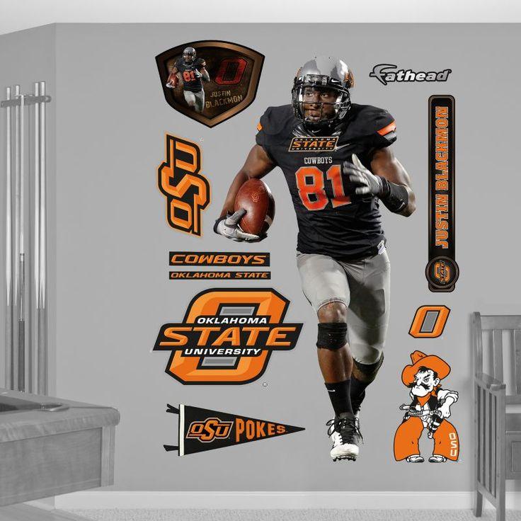 Fathead Justin Blackmon Oklahoma State Wall Graphic, Team
