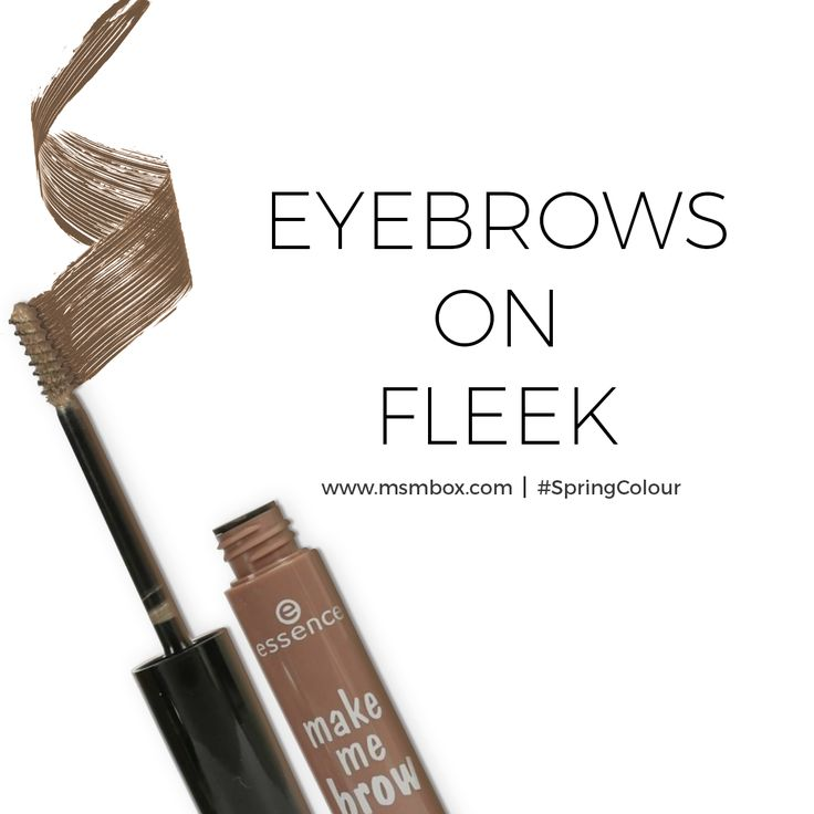 The tinted gel formula helps fill gaps, shapes and tame for wow brows included this month MSM Express #MSMBox #SpringColour #happiness