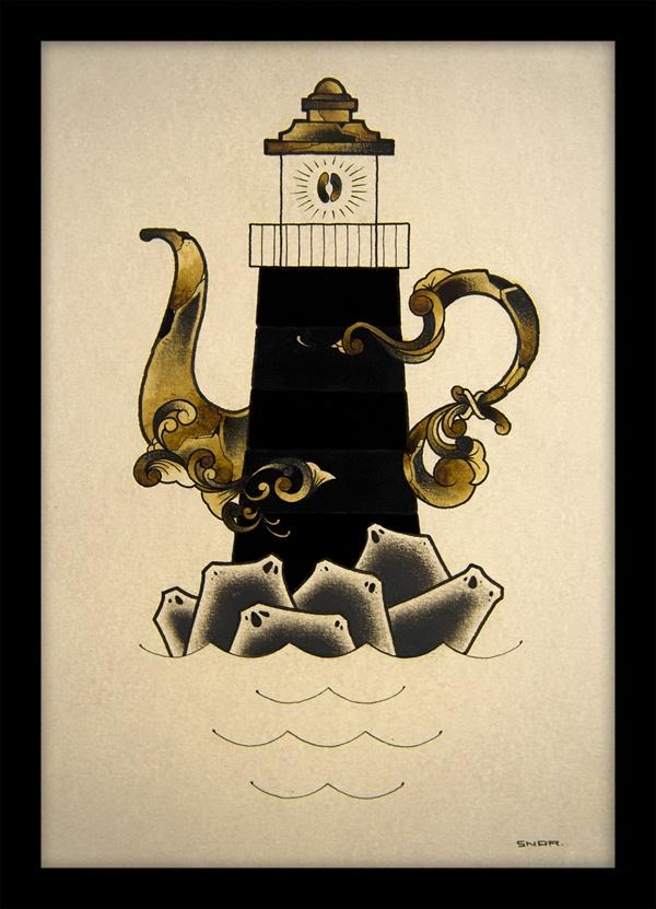 COFFEE TIME - pencil ink coffee vol 3 by Mark Arnesen, via Behance