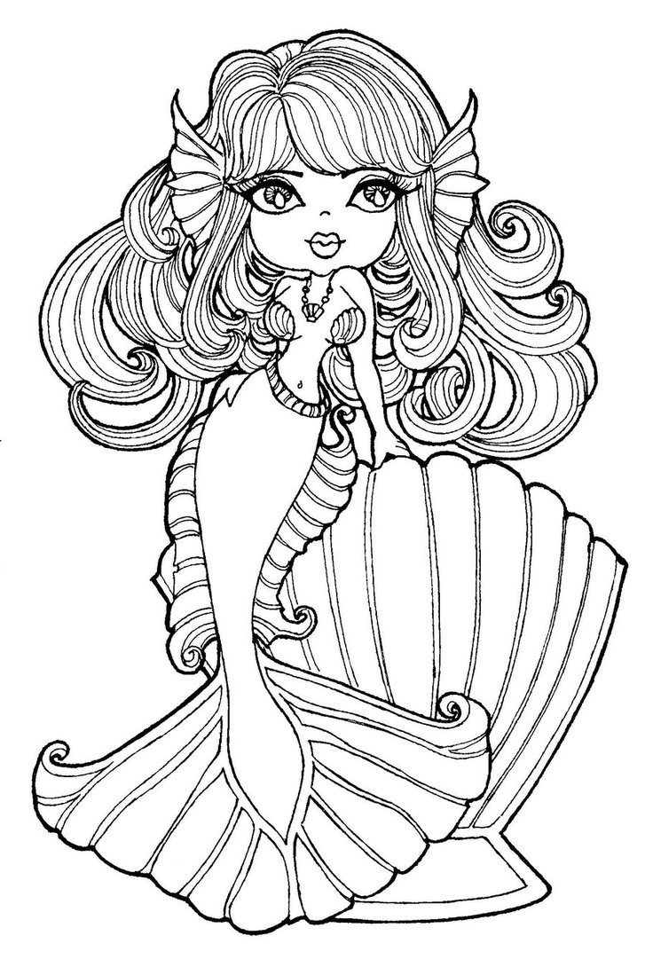 My little pony xmas coloring pages - Mermaid Coloring Bird Cage Digital Stamps Copic Adult Coloring Coloring Book Fantail Mermaids Vintage Printable
