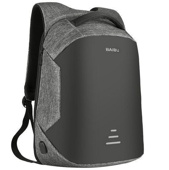 5ab62f0d0c Baibu 15.6 Inch Men Laptop Backpack Anti Warning External Usb Charge  Waterproof Multifunction Computer Bag Travel Backpack
