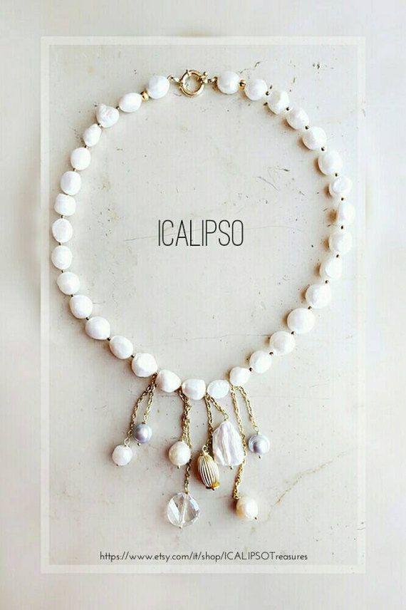 Guarda questo articolo nel mio negozio Etsy https://www.etsy.com/it/listing/516032113/perle-di-collana-di-gioielli-bianco