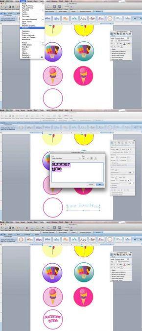 Make printables with Microsoft word