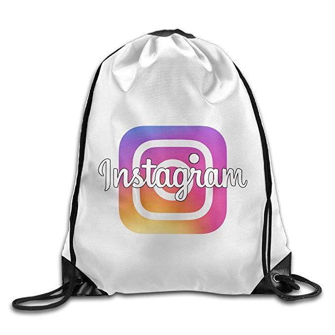 3134529547d8 Unisex Instagram Logo Sports Drawstring Backpack Bag Review | Gym ...