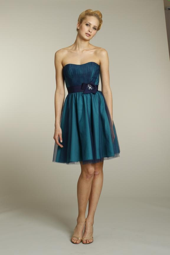 Teal Peacock Bridesmaid Dresses