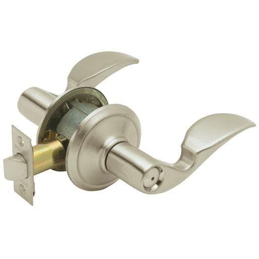 Schlage Lock Sn Avanti Privacy Lever F40VAVA619 Unit: Each, Nickel