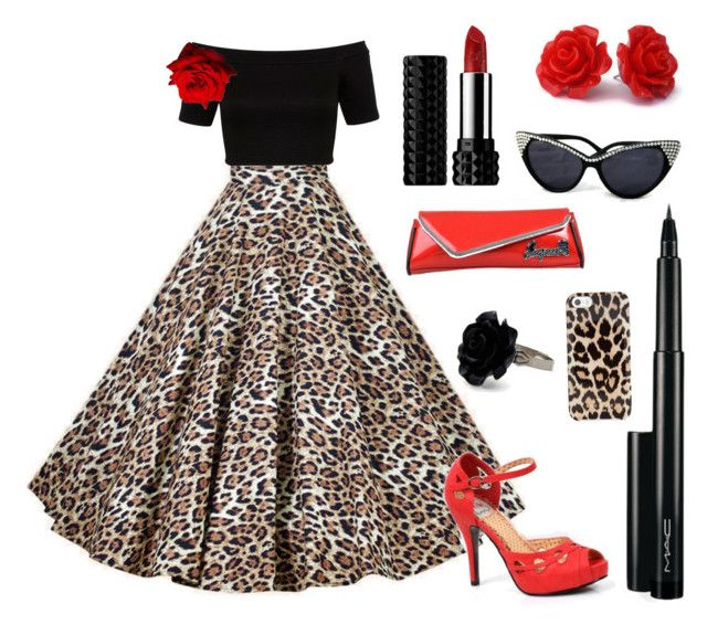 rockabilly pinup outfit inspiration classic red black and leopard print rockabilly pinup. Black Bedroom Furniture Sets. Home Design Ideas