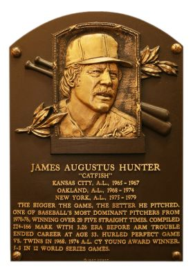 Catfish Hunter, RHP, Oakland A's & New York Yankees, Baseball Hall of Fame