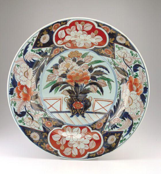 Hizen ware dish in Imari style, 1710-1750, Japan