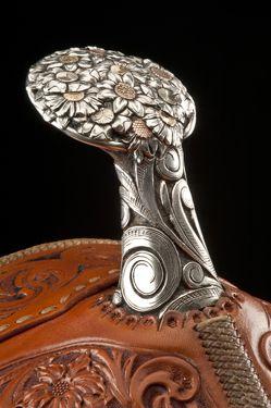 Custom saddle made by Salmon Idaho's Cary Schwarz.