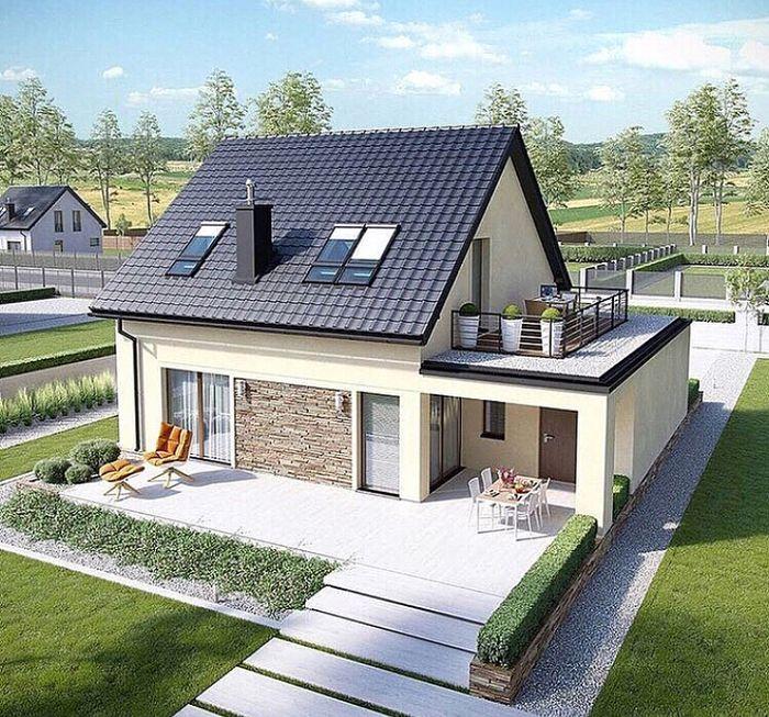 E14 Ii Economic G1 B Bungalow House Design House Designs Exterior Attic Design