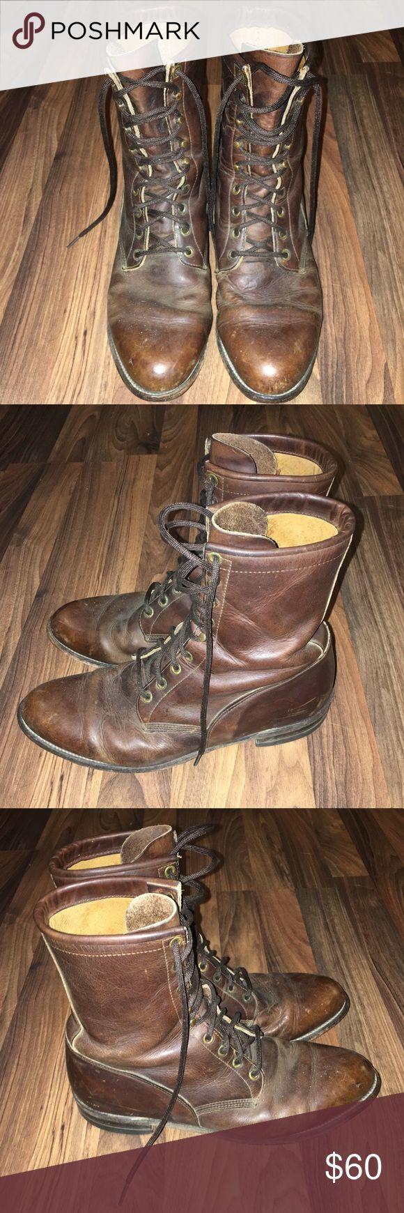 VINTAGE Justin Roper Boots Brown Vintage Justin Roper Boots Justin Boots Shoes Cowboy & Western Boots