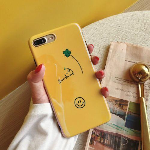0aedb900ec Korean Sunshine Smile Face Cute Laser Soft Case Cover For iPhone X 8Plus 7  6s