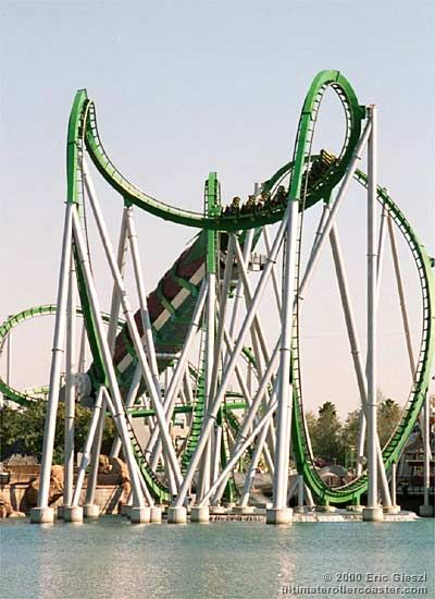 The Incredible Hulk roller coaster. Universal Studios, Orlando. #propulsion #shocker #adrenaline
