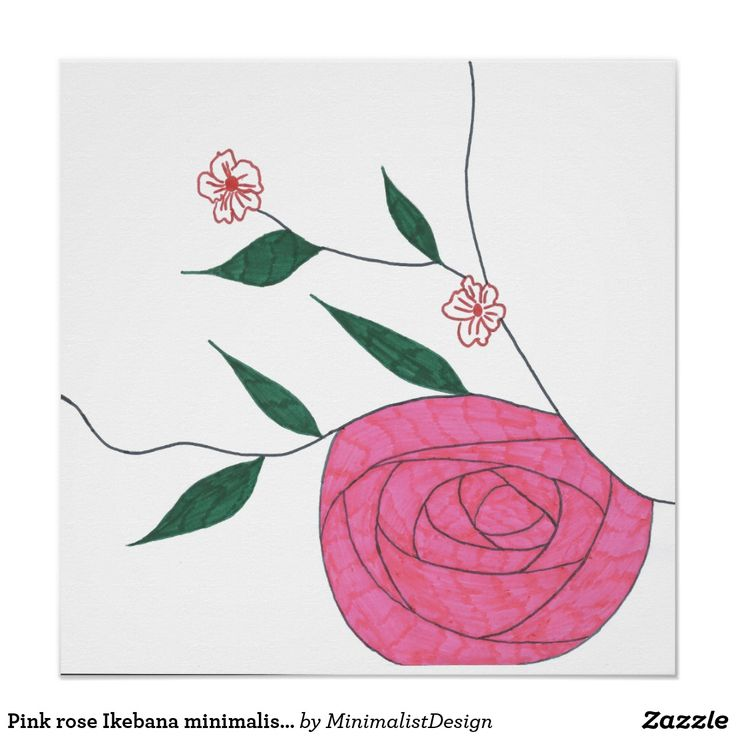 Pink rose Ikebana minimalist poster artwork Wall poster buy online, pink rose wall art, pink rose wall decor, ikebana wall art, ikebana poster, rose ikebana posters, minimalist wall posters, minimalist wall art, buy rose ikebana, rose ikebana buy,  Copyright © 2017, Anca Ioviţă #minimalistdesign #minimalistdesigner #zazzle #pink #rose #Ikebana #minimalism