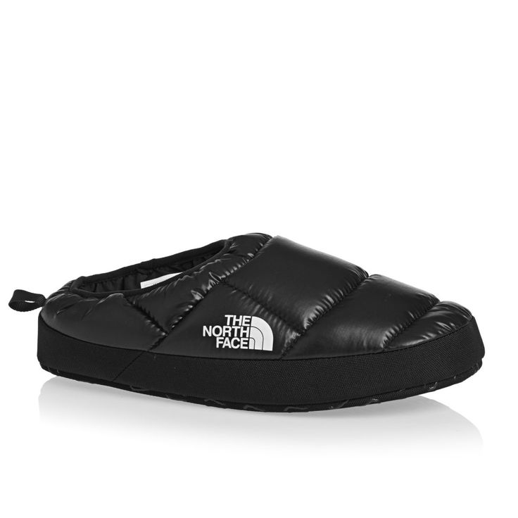 The North Face Slippers - The North Face Nuptse Tent Mule III Slippers - Shiny Black/Black