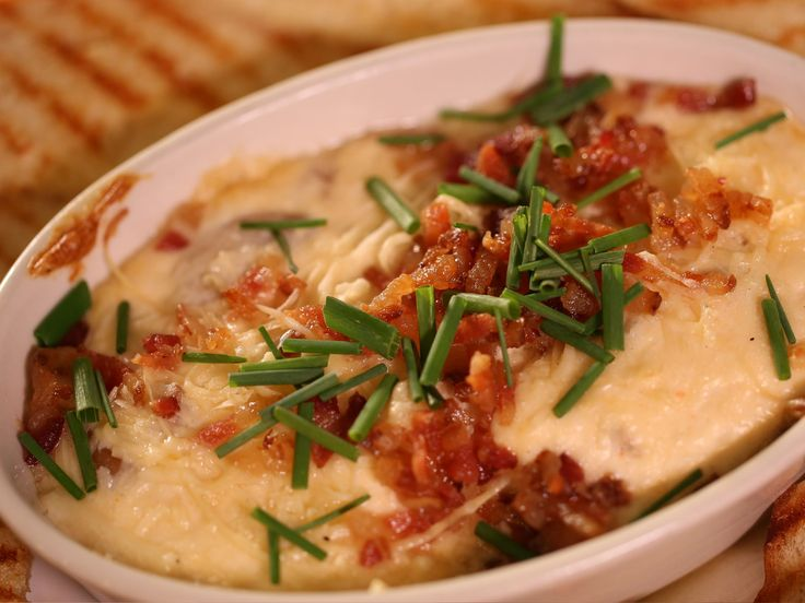 George and the Dragon's Bacon Onion Dip recipe from Diners, Drive-Ins and Dives via Food Network