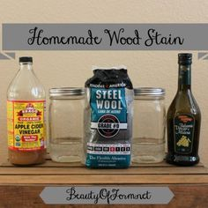 Homemade Wood Stain by Beauty Of Form - Apple Cider Vinegar Stain and Balsamic Vinegar Stain  www.beautyofform.net