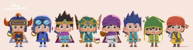 ドラクエ dragonquest fanart 主人公 歴代 twitter com イラスト ファンアート ドラクエ