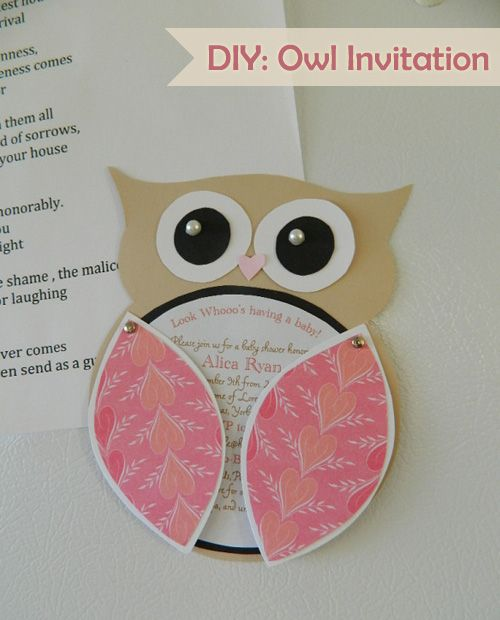 DIY: Owl Invitation  could i get away with this for a wedding invitation??