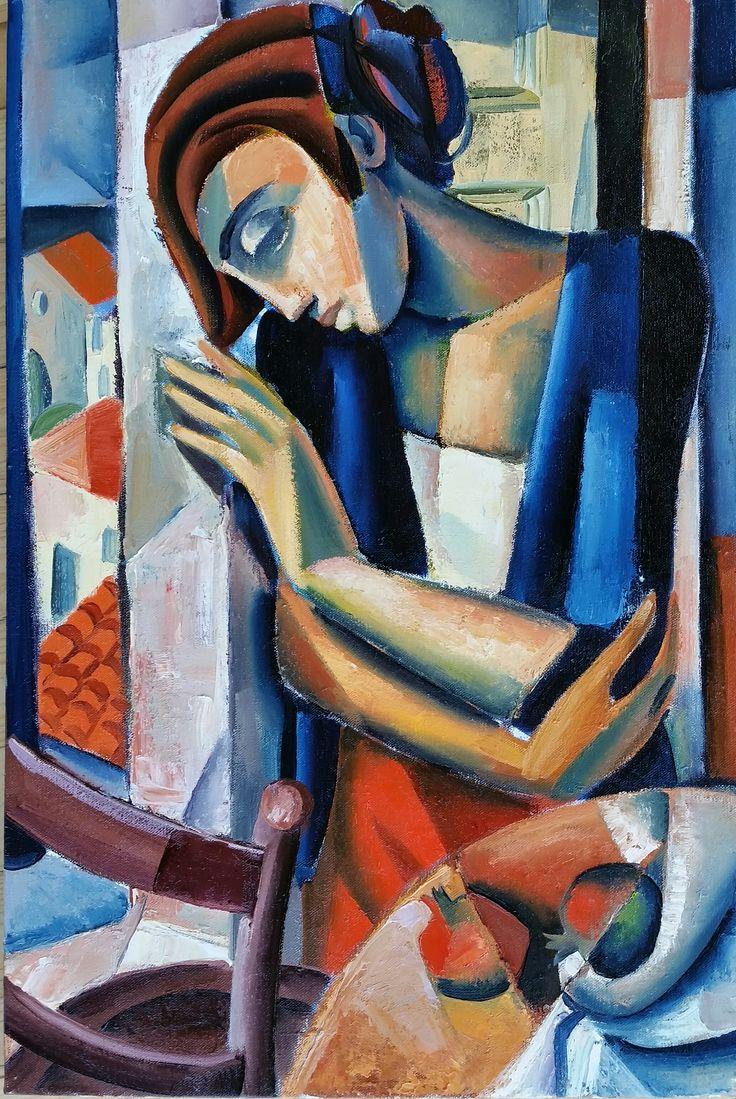hennie niemann jnr 'woman by the window'  90 x 60 cm  2015
