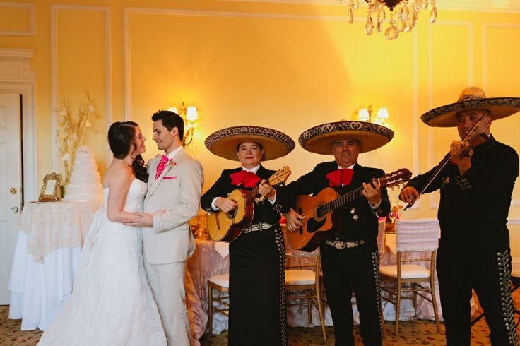 #Mariachis #wedding    Photo: www.janiceyiphotography.ca   Wedding Planner: www.traceymevents.ca Featured on: Wedding Obsession Wedding Blog http://www.weddingobsession.com/2014/01/29/luxurious-mexico-inspired-style-shoot/