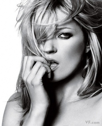 HAIR CARE Kate Moss by David Bailey