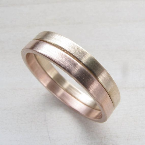 hers and hers wedding band set handmade wedding rings for same sex women wedding - Lgbt Wedding Rings